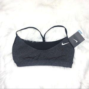 NWT Nike Sport Bra Gray and black size XS